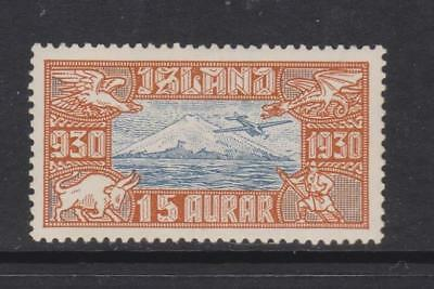 Iceland - SG 174 - l/m - 1930 - 15a - Air - blue and red brown