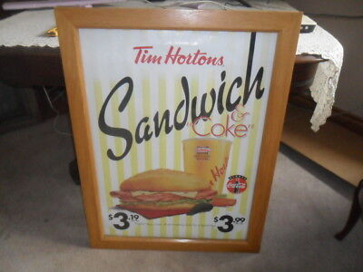 Tim Hortons  Sandwich And Coke Promotional Sign