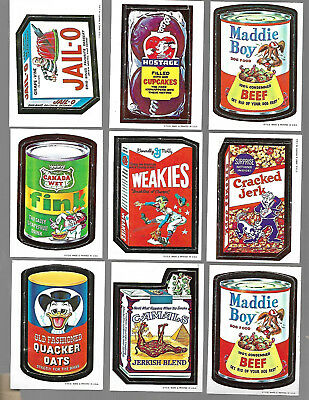 Vintage 1967 WACKY PACKAGES lot of 16 Cards CORONATION CRACKED JERK MUTTS ETC