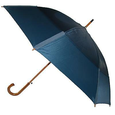 New GustBuster Auto Open Vented Stick Umbrella with Hook Handle