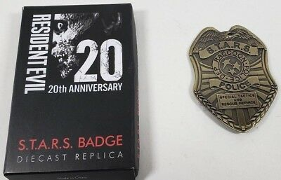 Resident Evil S.T.A.R.S. Magnetic Diecast Replica Badge Horror Block Exclusive