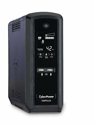 CyberPower CP1500PFCLCD PFC Sinewave UPS System 1500VA/900W 10 Outlets AVR Tower