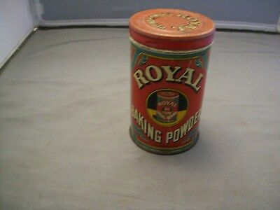 1938 Royal Baking Powder Tin W/Lid
