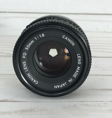 🔥 Canon Lens FD 50mm 1:1.8 Prime Made in Japan 🔥