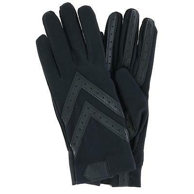 New Isotoner Women's Unlined Touchscreen Leather Palm Driving Gloves