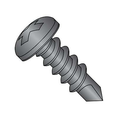 0408KPPBZ Self-Drilling Screw Phillips 4-24x1/2 BLK ZINC #2 Point Pack of 100