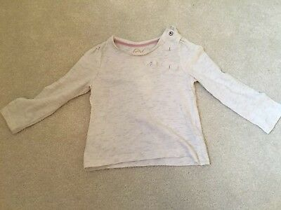 Baby Girl 9-12 Months Long Sleeved Creamy Fleck Top Mothercare