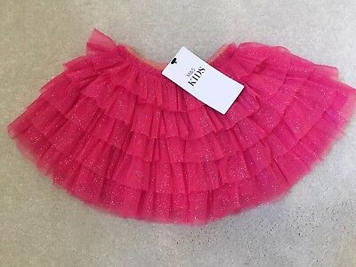 Baby Girl 6-9 Months Pink Sparkly Tutu Skirt From M&S