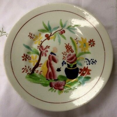 ~Antique Hilditch? Oriental Style Hand Painted Plate/Dish Famille Rose ~ RARE