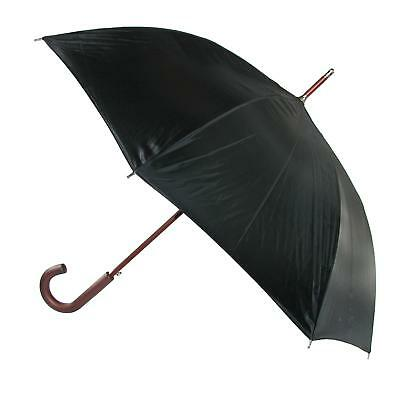 New Totes Wooden Hook Handle 38 Inch Stick Umbrella