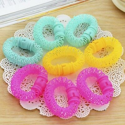 DIY 8Pcs Magic Hairdress Bendy Hair Styling Roller Curler Spiral Curls Tool #DT4