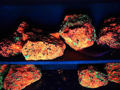 Calcite Willemite fluorescent Franklin  NJ Large pieces!!   by the pound