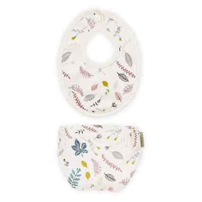 Doll's Bib & Diaper - Pressed Leaves Rose Play Toy Accessories