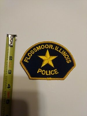 E Vintage Patch patches police Flossmoor Illinois
