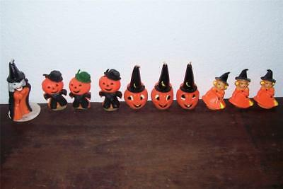 Vtg lot HALLOWEEN candle witch GURLEY pumpkin