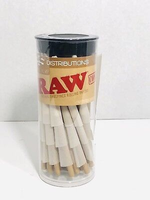 RAW Cones Organic 1 1/4 | 75 Pack Pure Hemp Pre Rolled Papers with Tips Include