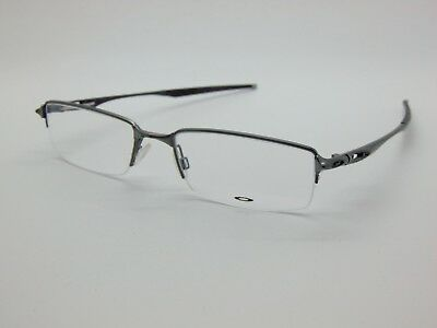 NEW Authentic OAKLEY HALFSHOCK OX3119-0455 Brushed Chrome 55mm Rx Eyeglasses