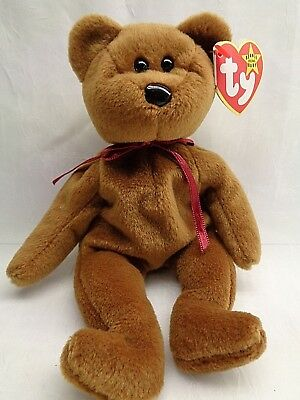 Retired Ty Beanie Babies Brown Bear TEDDY style4050  11-28-1995 tag says 1993
