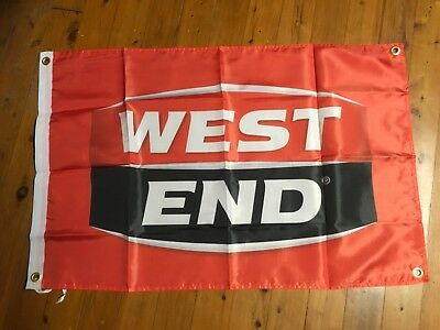 West end  beer poster sign man cave pool room wall hanging shed south australia
