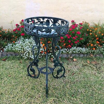 """Vintage Cast Iron Serving Drinks Table / Plant Stand  Heavy 30"""" Tall"""