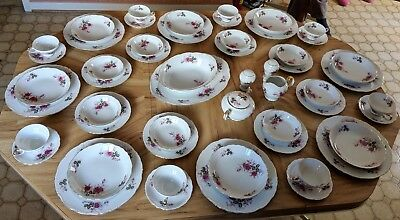 """Harmony House Fine China """"Eugenie Rose"""" 54 piece set Limited Edition (8 Person)"""