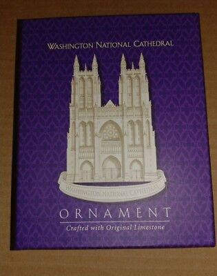 2000 Washington National Cathedral Ornament Limestone New in Box