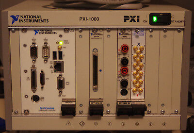 PXI-1000 main frame with PXI-8186 CPU and several modules