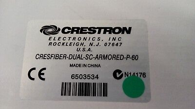 *NEW*  CRESTRON Cresfiber Dual-SC Armored P-60 Fiber Optics  PLENUM  (6503534)