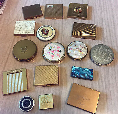 Vintage Powder Compact Lot of 16 Compacts