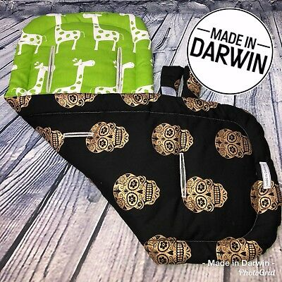 Universal Reversible Pram Stroller Liner and Strap Covers By Made In Darwin