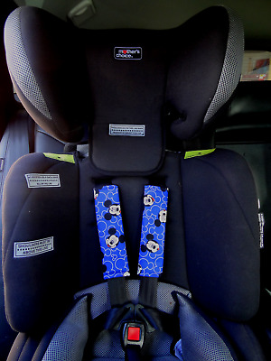 Mickey Mouse - Baby Kids Seat Belt Strap Covers Pram Stroller Car Seat Baby Caps