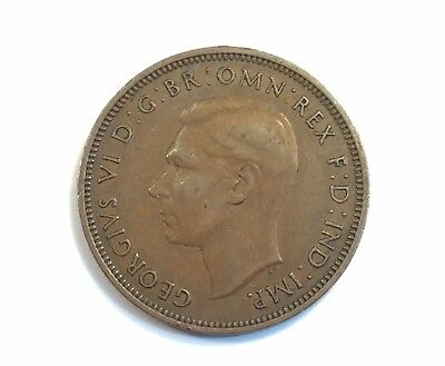 1941 Great Britain Half Penny