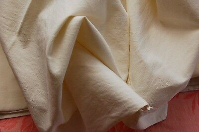 "Vintage French Crisp AGALYS Linen Blend Flat Sheet NEAR PERFECT White 70""x104"""