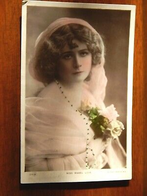 """1906..Miss Mabel Love. The Golden Age of British Theatre. """"L@@K""""."""
