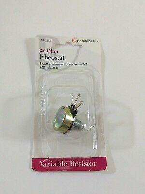RadioShack 25 Ohm 3 Watt Rheostat Wirewound Variable Resistor 271-0265