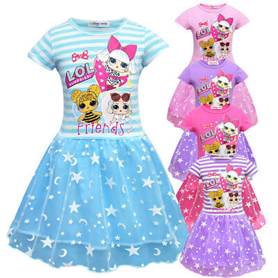 Girls Lol Surprise Doll Princess Dress Party Pageant Holiday Tutu Christmas Hot