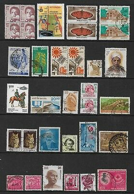 INDIA mixed collection No.38, incl joined pairs & block, mostly used