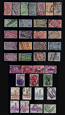 BELGIUM mixed collection, Railway Parcels stamps No.13, used