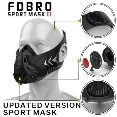 FDBRO 3.0 High Altitude Training Mask Fitness MMA Cardio Mask Sport Mask