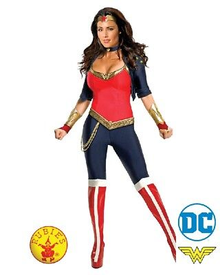 Ladies Womens Superhero DC Justice Wonder Woman Deluxe Sexy Costume