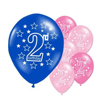 2nd HAPPY BIRTHDAY BALLOONS Pack Of 10 50 100