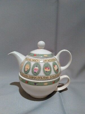 Arthur Wood & Son Staffordshire England EST. 1884 One Cup Teapot & Matching Cup