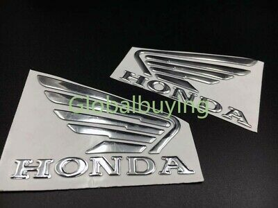 Motorcycle Side Fairing Wing Fuel Tank Emblem 3D Rubber Decal Sticker For Honda