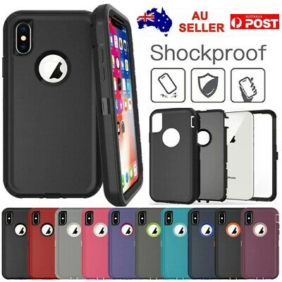 360° Full Shockproof Hybrid Armor Bumper Case Cover For iPhone XS Max X 8 7 Plus