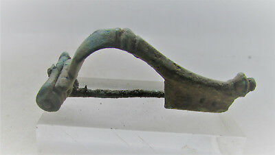 Ancient Roman Imperial Knee Type Brooch. Authentic Legionary Artefact