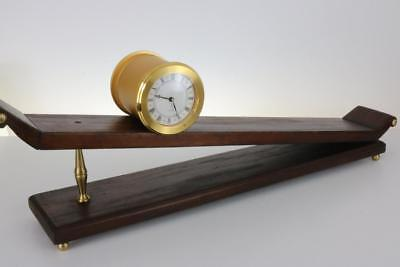 INCLINED PLANE GRAVITY CLOCK by IMHOF fascinating and finely engineered