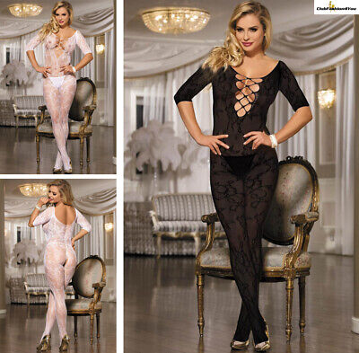 Catsuit Dessous Netz Body Fishnet Reizwäsche Body Stocking | Xs-M |H30092-Hh