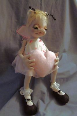 """*new* Cloth Art Doll (Paper) Pattern """"lacey"""" By Shelley Hawkey"""