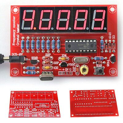 PCB 1Hz-50MHz Frequency Counter Meter Crystal Measurement DIY Accessory Kit