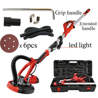 4FT Swivel Electric 5 Speed Drywall Sander 6PCS Sand Paper + Portable Case